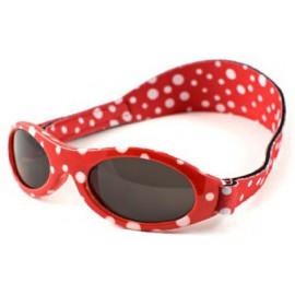 KidzBanz baby zonnebril - Rood met stippen (0-24 mnd)