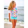 UV shirt & short Pastel flower