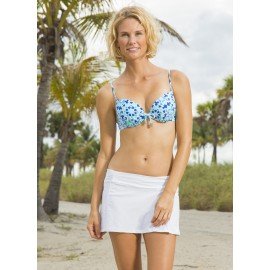 UV Swim skirt white stripe