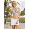 UV Swim skirt white stripe
