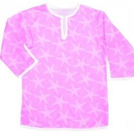 Roze Kaftan met zeester print