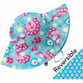 Zonnehoedje Baby Aqua - reversible