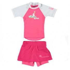 UV shirt Boulder Beach & UV zwemrokje roze