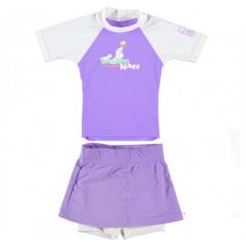 UV shirt Boulder Beach Lilac & UV zwemrokje lilac