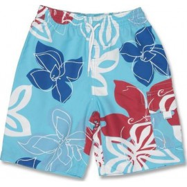 Boardshort Tropisch Blauw