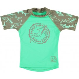 Uv shirt shark groen