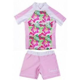 UV shirt Funky Flower en zwembroekje Pink