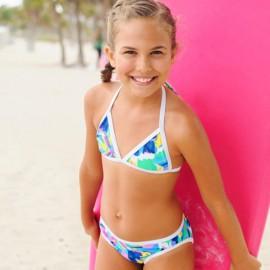 Meisjes Bikini Tropical Neon