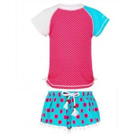 uv shirt en zwemshort meisje aquaberry