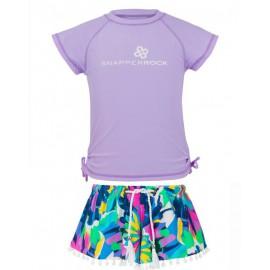 UV shirt_lavender_zwemshort Tropical