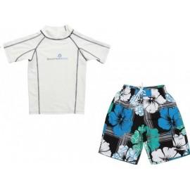 uv shirt & zwembroek Mint Hibiscus