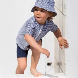 Zonnehoedje kind Gestreept | strandhoed gestreept