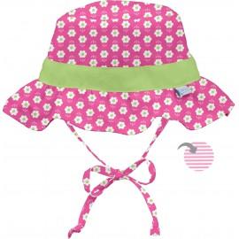 Baby zonnehoedje Pink Daisy-dubbelzijdig