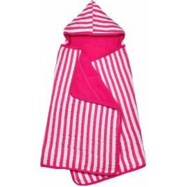 Capuchon handdoek Roze gestreept