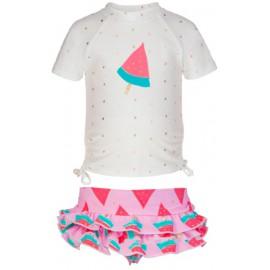UV shirt + zwemrokje watermeloen