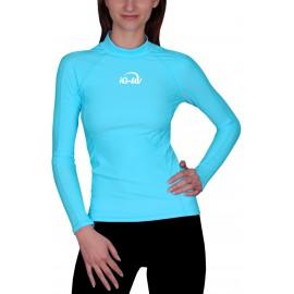 UV Shirt dames Slim Fit Turquoise Lange mouwen