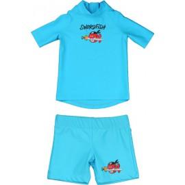 Zwemset: UV Shirt Turquoise  + Zwembroek Turquoise