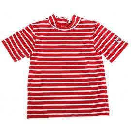UV shirt Bretonse streep rood met wit