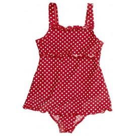 UV Badpak-jurkje Rood met witte stippen