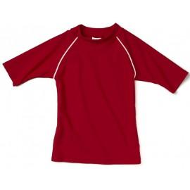 UV shirt Rood met witte stiksels