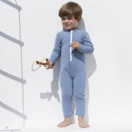 UV pakje Baby | UV Zwempak Petrol lange mouwen & Pijpjes