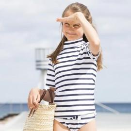 Meisje zwembroek Wit Blauw gestreept