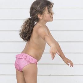 Meisjes Zwembroekje | Bikini broekje Pink Flower