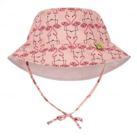 Zonnehoedje Flamingo tweezijdig | Baby zonnehoedje Flamingo