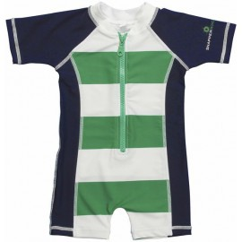 UV baby badpak Kelly Green & Navy (korte mouw)