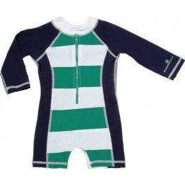 UV baby badpak Kelly Green & Navy (lange mouw)