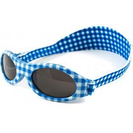 KidzBanz zonnebril - Blauw wit geblokt (2-5 jr)