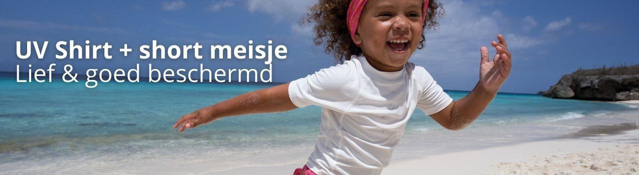 UV shirt en UV zwemshort meisjes | UV werende shirt & boardshorts voor meisjes