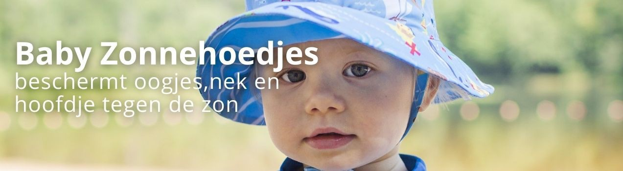 Zonnehoedje baby |  UV werende zonnehoedjes vind je bij StoereKindjes