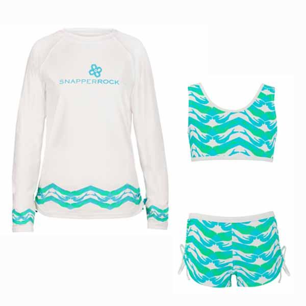 de99f024dd5093 Vind je het lastig om te kiezen? Snapper Rock heeft ook 2 setjes waar de  bikini met de UV shirt reeds als set te verkrijgen is. Zie hieronder de 2  UV setjes ...